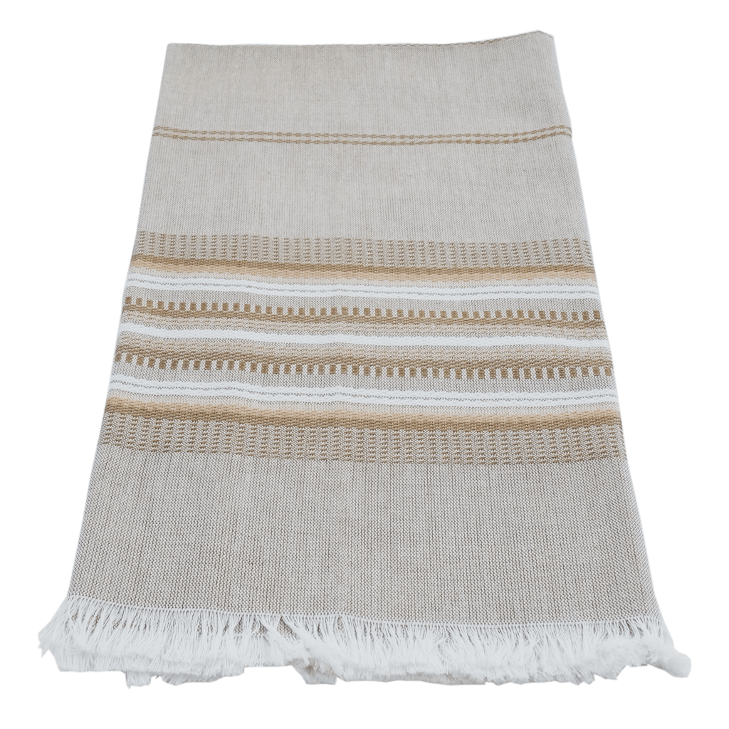 Wheat with Neutral Stripe Towel
