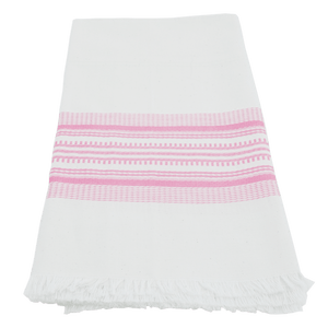 Antigua pink stripe towel