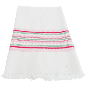 Pink and Green Stripe Antigua Towel