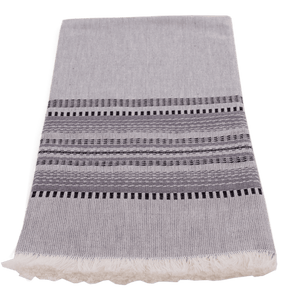 Slate with black & grey towel