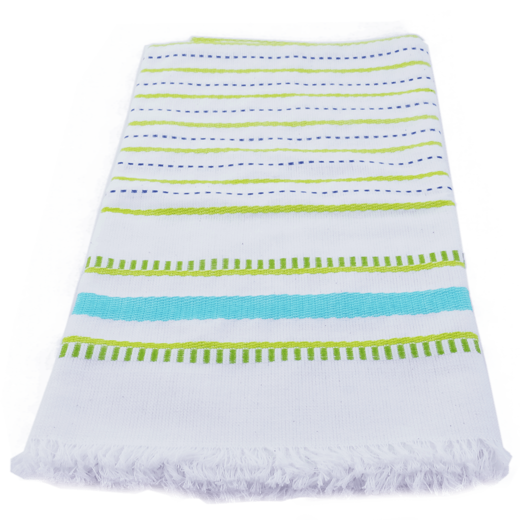 Aqua Seaside Stripe Towel