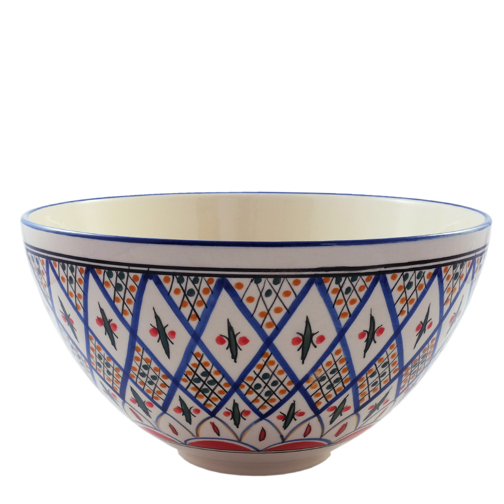 Large Deep Tabarka Salad Bowl