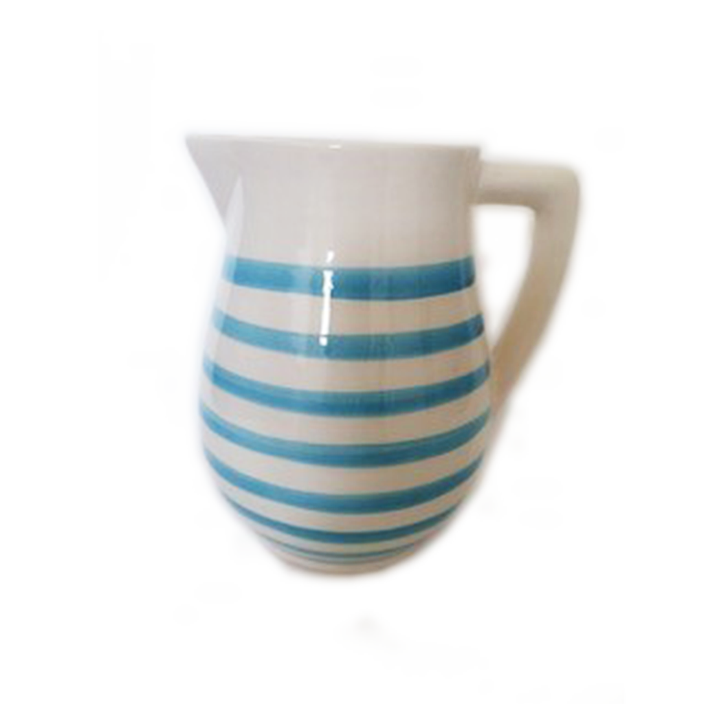 Turquoise Stripe Pitcher