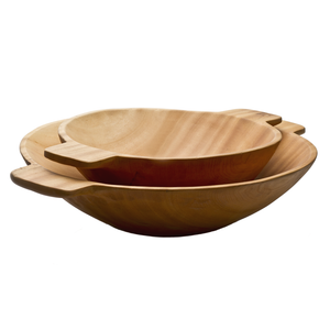 Large Wood Bowl with Handles