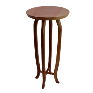 Wood Pedestal with Curved Legs