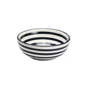 Black Stripe Cereal Bowl