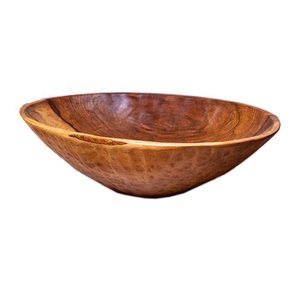 Large Oval Wood Bowl