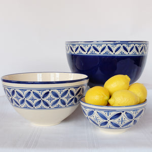 XL Deep Blue Fez Salad Bowl