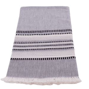 Slate with Black & White Towel