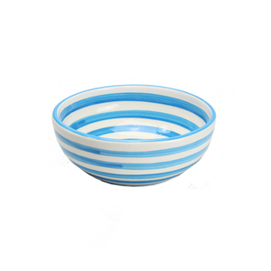 Turquoise Stripe Cereal Bowl