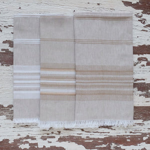 Wheat with Wheat Stripe Towel