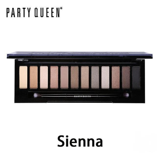 12 Colors Shimmer Matte Nude Eye Shadow Palette | Party Queen