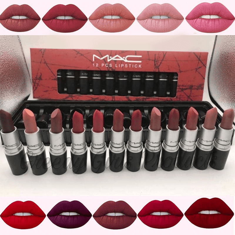 12 Pcs Collection Lipsticks