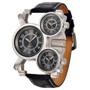 3 Time Zone Top Brand Luxury Mens Watches