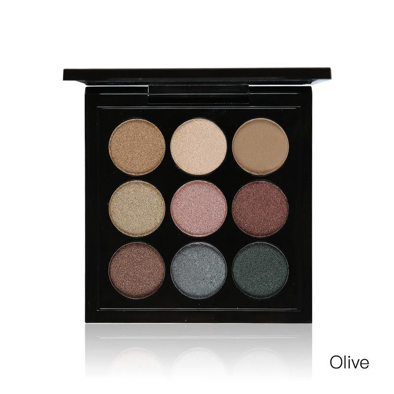 9 Colors Matte Glitter Eyeshadow Palette | Party Queen