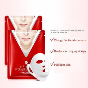 Facial chin V shaped lifting collagen face mask