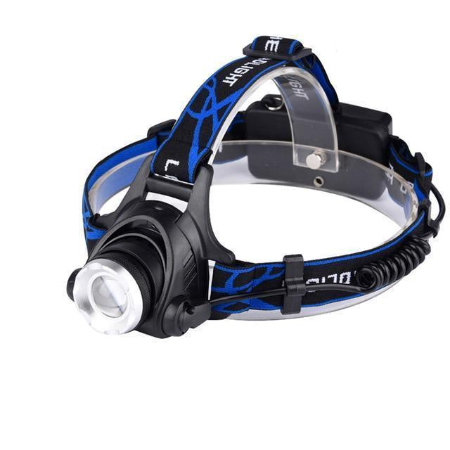 LED headlamp 6000 lumen Zoomable lamp Waterproof