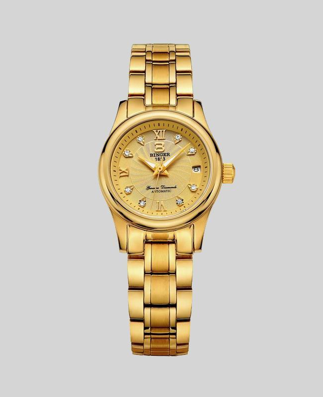 Luxury18K Gold Mechanical Women's Watches