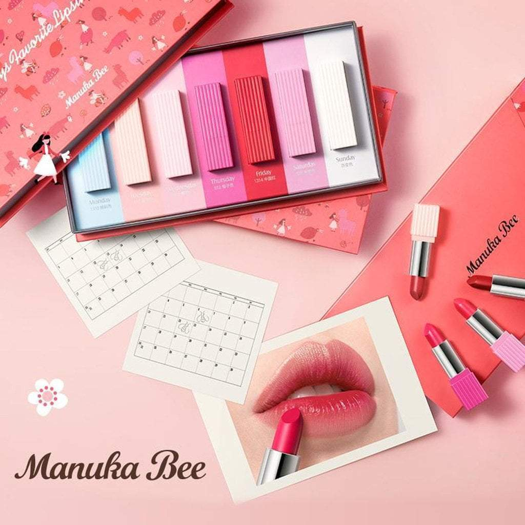 Manuka Bee Seven-day Colorful Lipstick Set