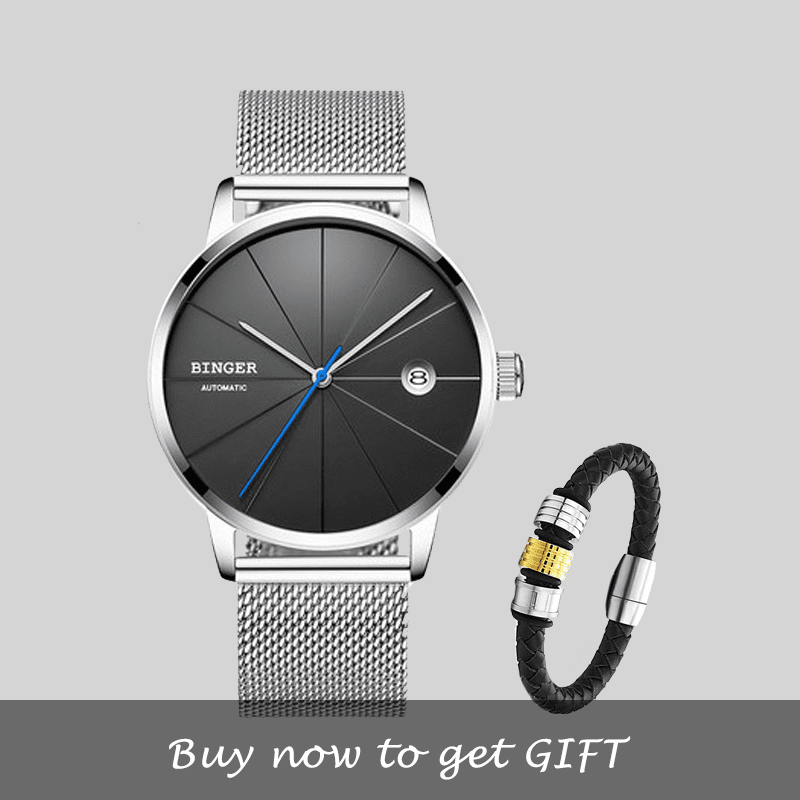 Mechanical waterproof simple creative fashion watch