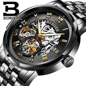 Men's clothing automatic mechanical fashion night light waterproof watch