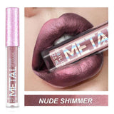 Metal Lip Gloss Liquid Lipstick | Matte Pearl Diamond Shimmer Waterproof Long Lasting | elsabeautyshop.com