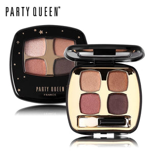 Party Queen 4 Colors Shimmer Matte Eyeshadow Palette