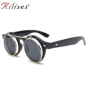 RILIXES 2019 New Arrival Steampunk Sunglasses