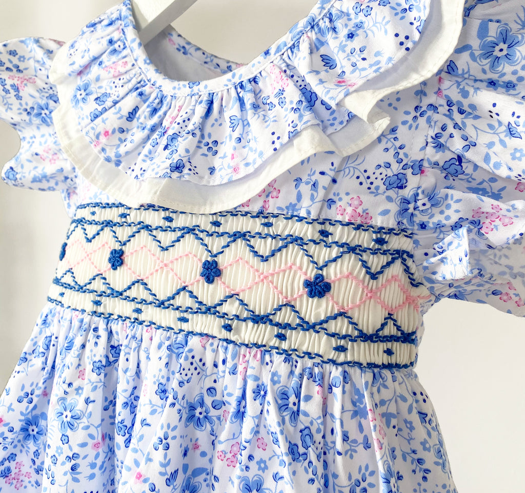 Amie Smocked Floral Dress