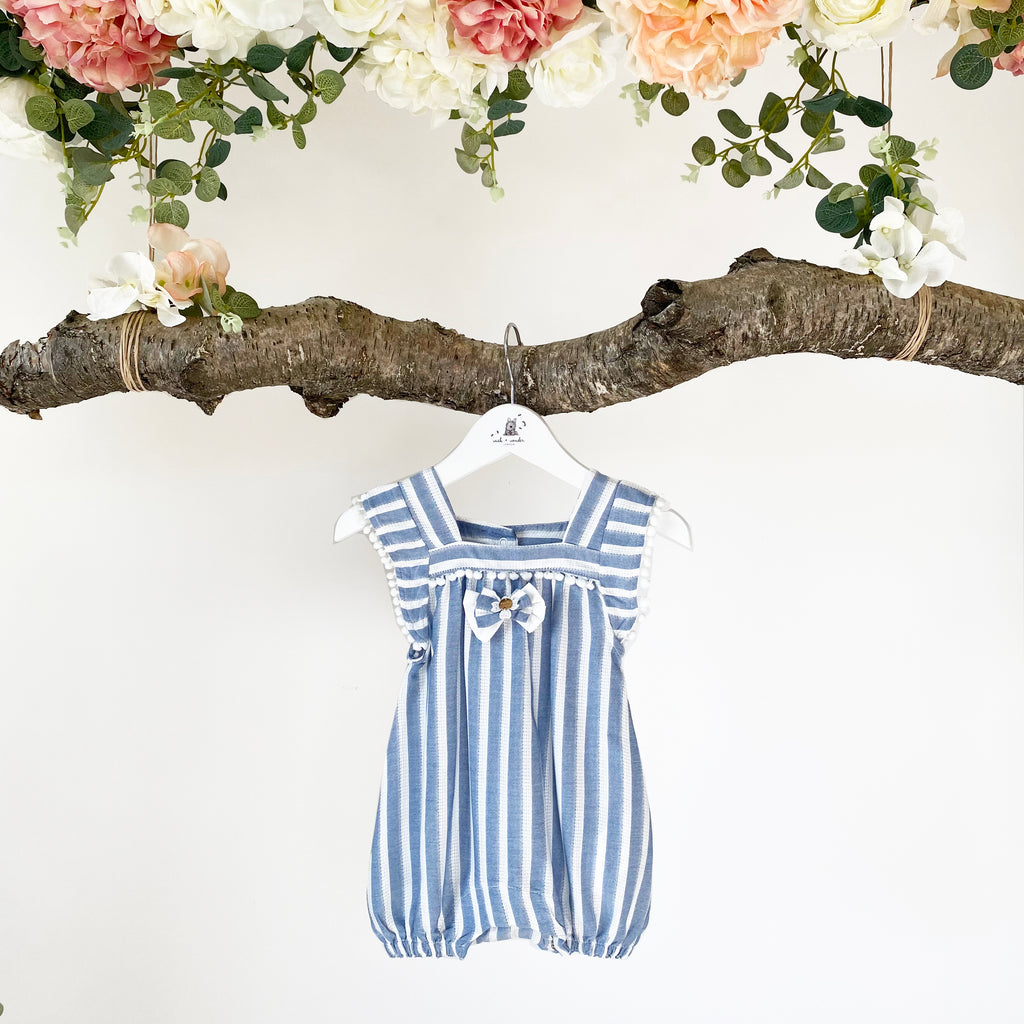 Ava Denim Blue Romper