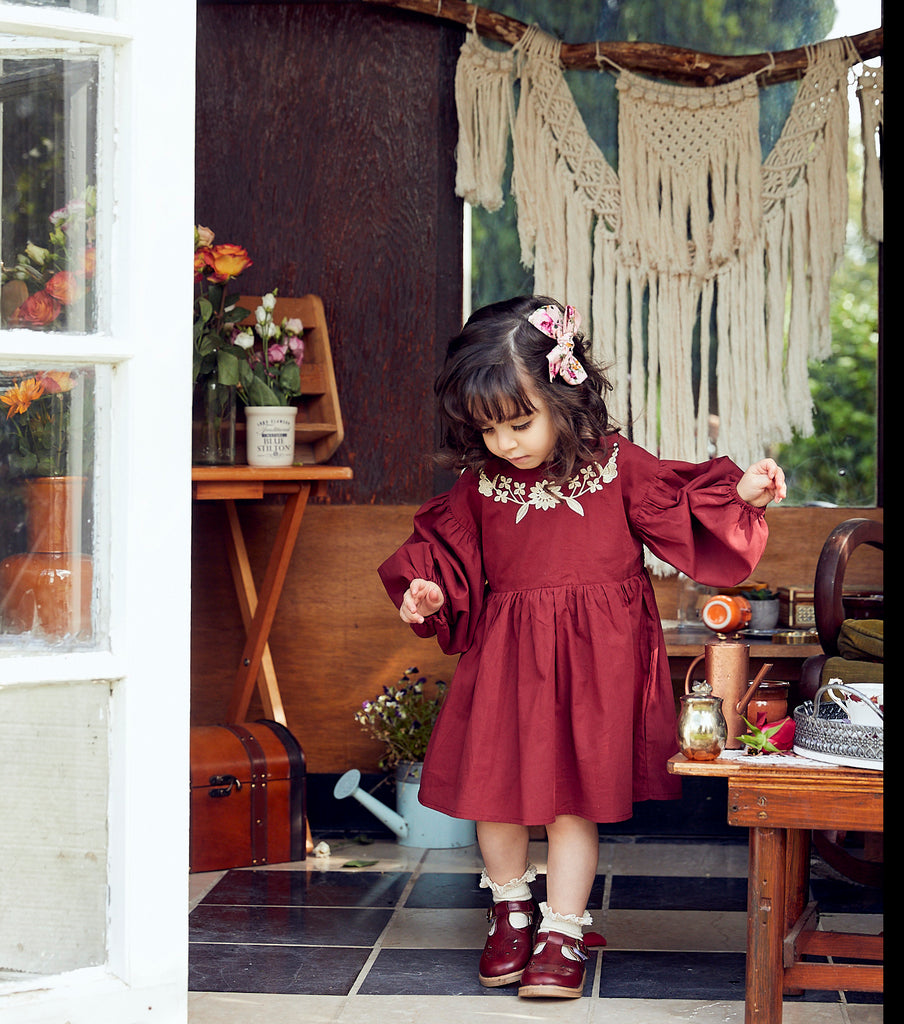 Margot Embroidered Smock Dress