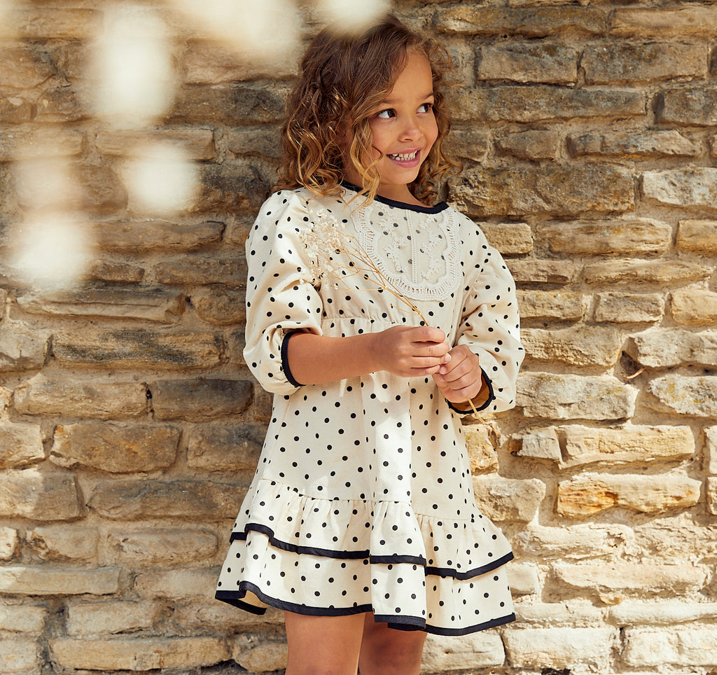 Aria Spotty Lace Bib dress