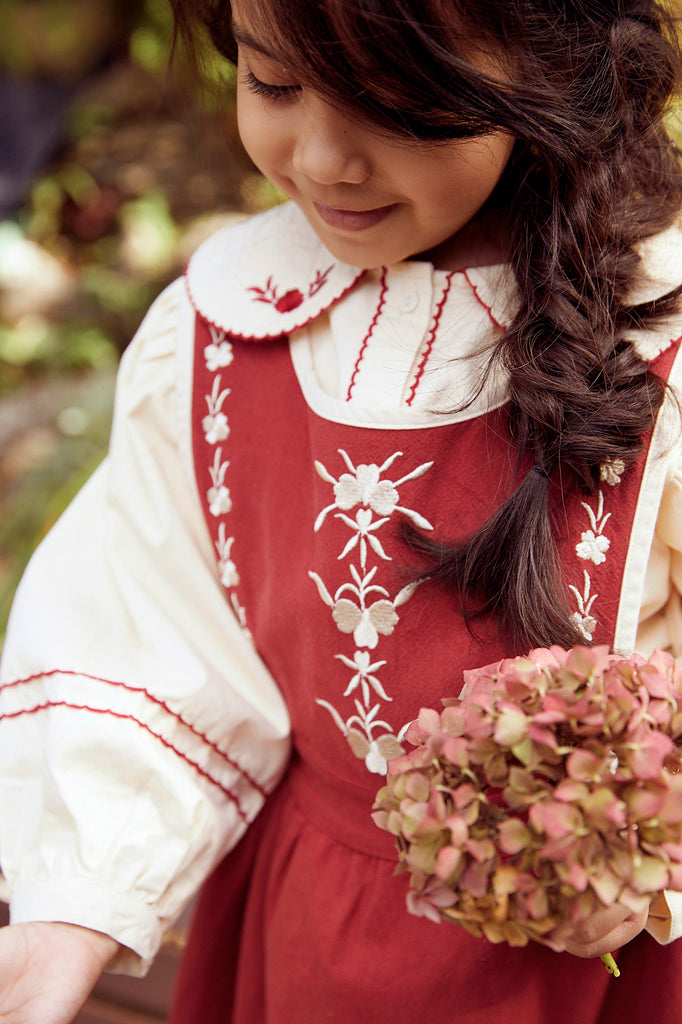 Rosaline Embroidered Pinafore Dress