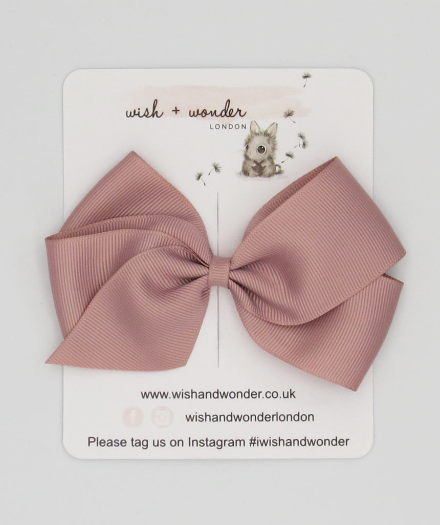 Single Pigtail Grosgrain hair bow