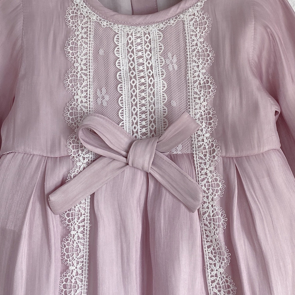 Molly Pearlised Pink Romper & Hairband