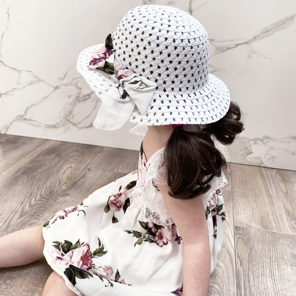Polly Floral Dress with Sunhat