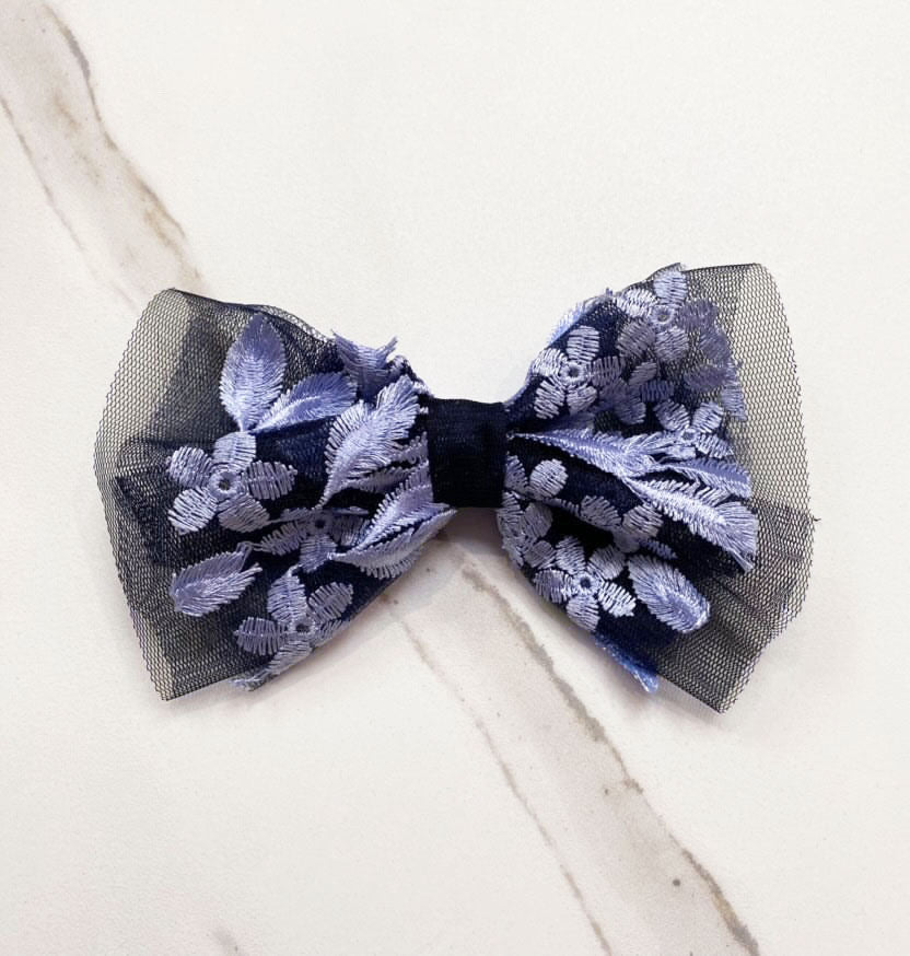 Rebecca Embroidered Hair Bow