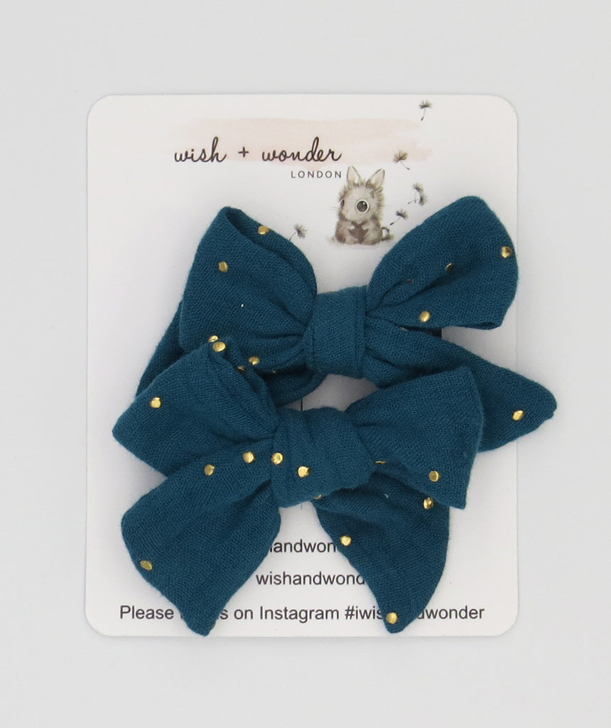 Zara Pigtail Hair Bow Set