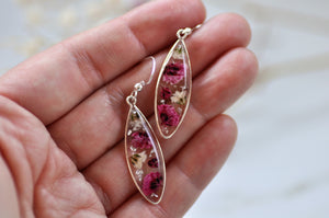 Gypsophila droplet earrings - Sterling silver