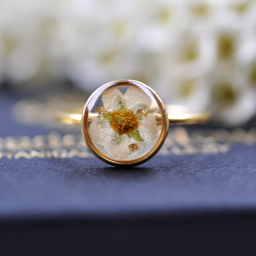 cherry blossom ring - Gold fill