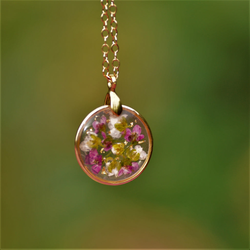 Alyssum necklace - mini - Gold fill