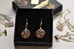 Alyssum puddle earrings - mini - Gold fill