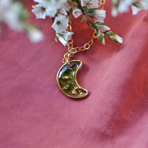 golden moon necklace