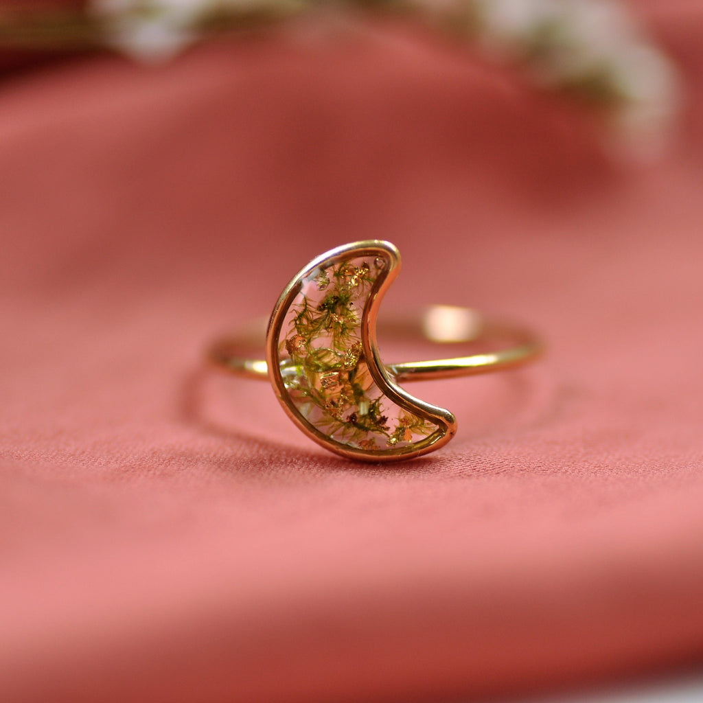 moon ring gold fill