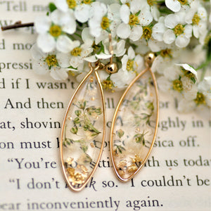Gypsophila droplet earrings - Gold fill