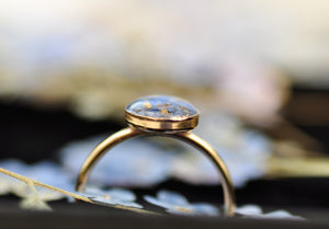 blue forget me not ring