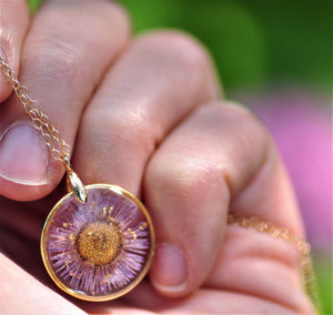 september birthflower necklace