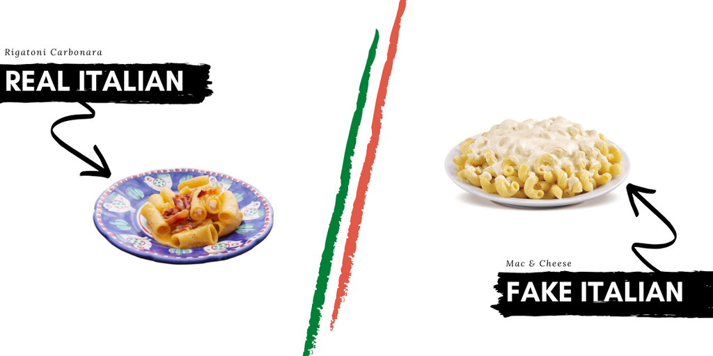 Italian food & meals that are not Italian at all