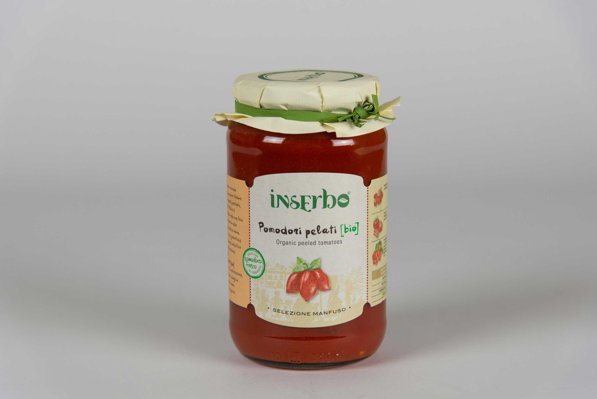Organic Peeled Tomatoes Sauces 520 gr - Inserbo - The Italian Club