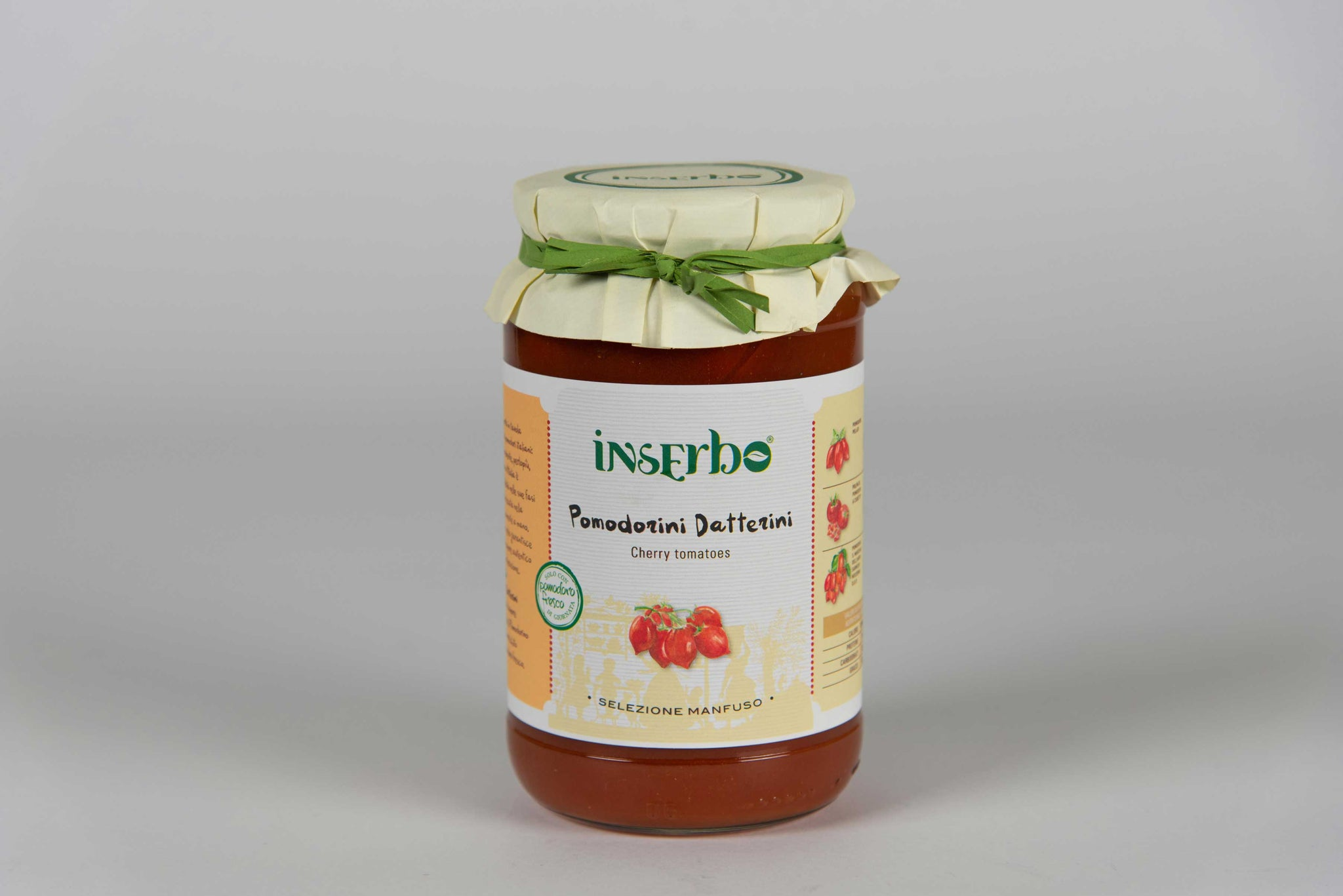 Datterini cherry tomatoes in sauce 520 gr - Inserbo - The Italian Club